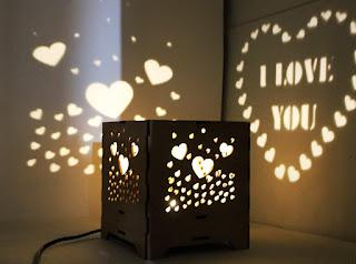 Valentine & Birthday Gift Light Emitting Love Night Lamp (Black)