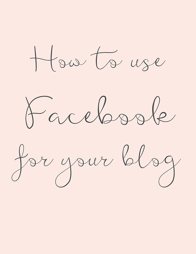 How to use Facebook for your blog