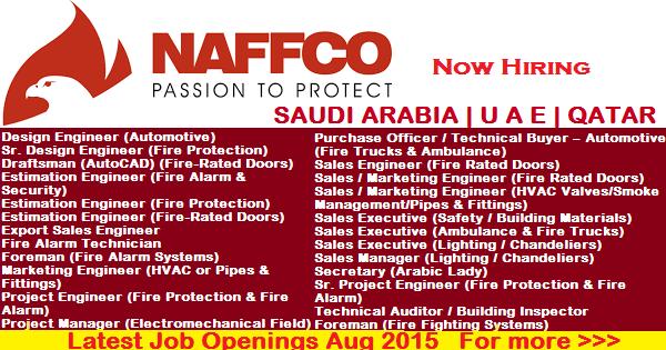 SAUDI ARABIA   U A E   QATAR JOBS IN NAFFCO
