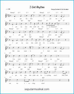 chord i got rhythm lagu jazz standar