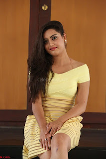 Shipra gaur in V Neck short Yellow Dress ~  003.JPG