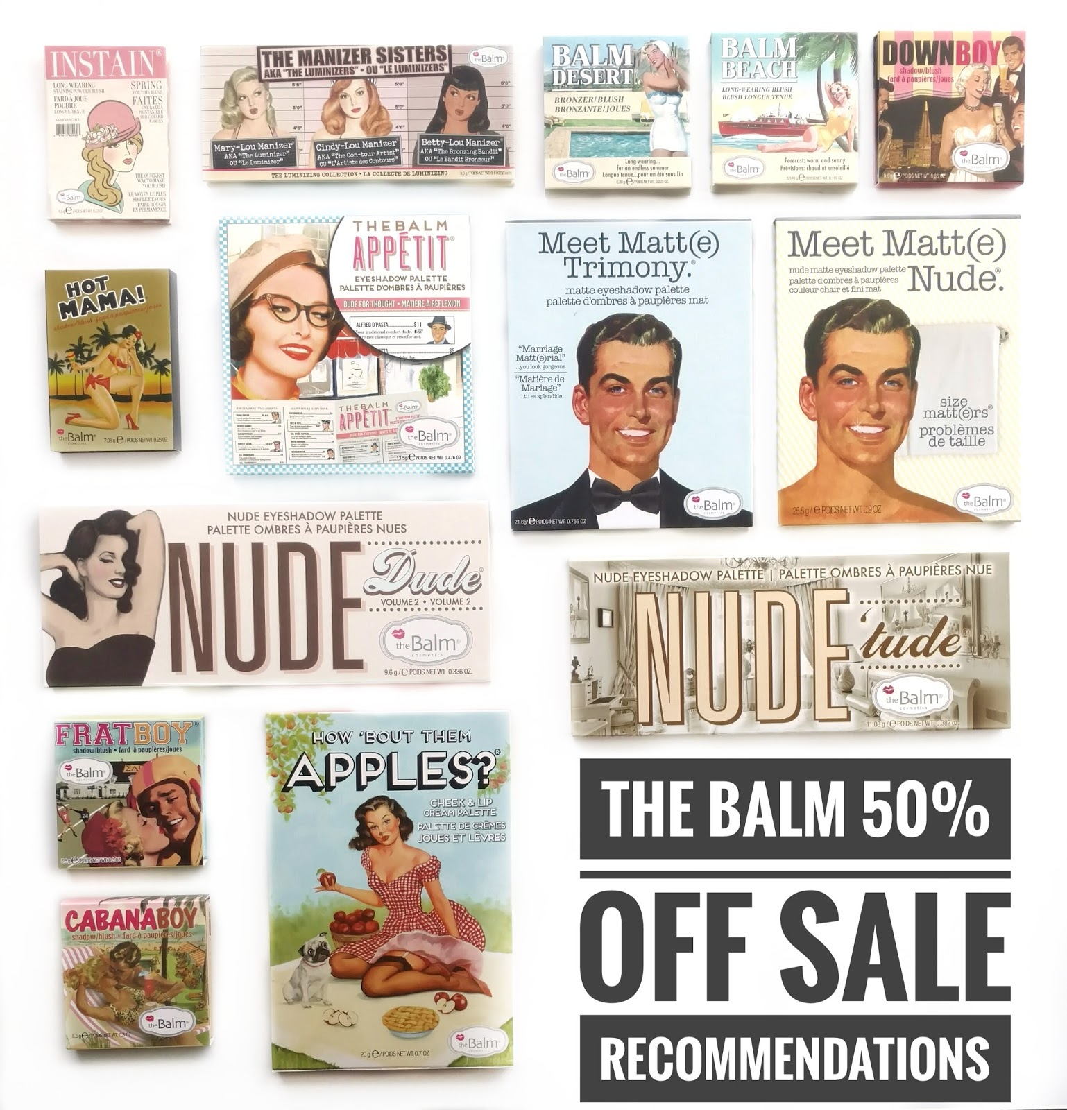 the balm 50% off sale
