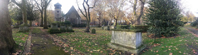 The tidiness of Old St Pancras Churchyard