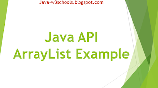 Java API ArrayList Example