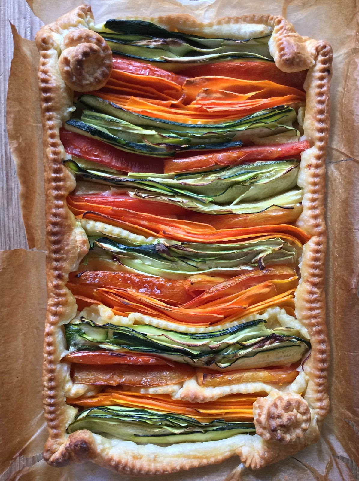 torta salata con le verdure