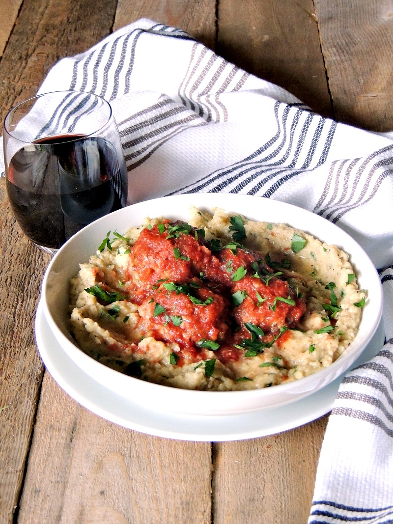Porcupine Meatballs - A healthier version of the traditional porcupine meatballs, these use brown rice in place of regular white. Serve these delicious meatballs, over a bed of roasted cauliflower mash, for a delicious and nutritious meal from www.bobbiskozykitchen.com
