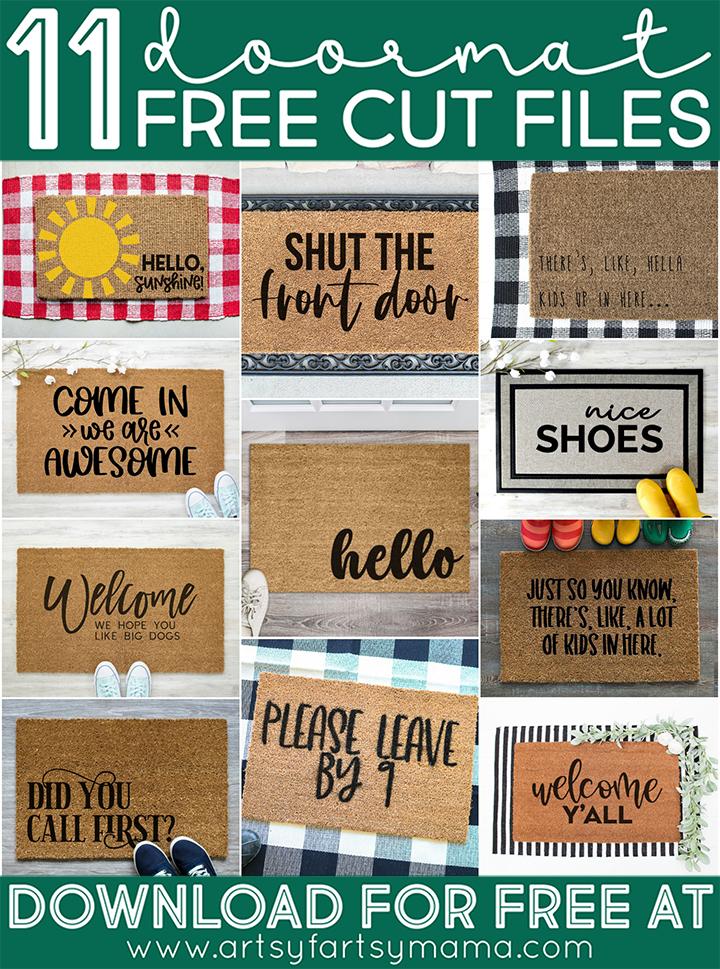 11 FREE Doormat Cut Files