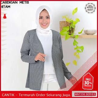 MNF038J208 Jaket Metis Wanita Atasan Cardigan Baju terbaru 2019 BMGShop