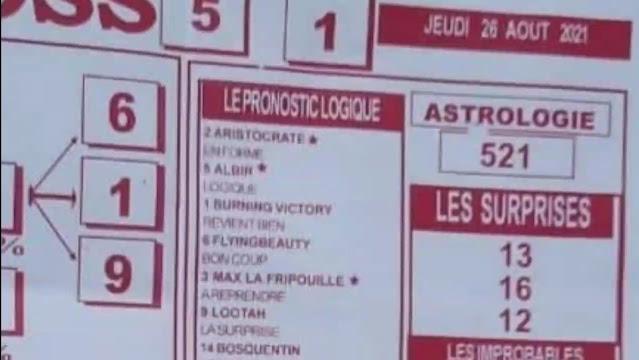 Pronostics quinté pmu jeudi Paris-Turf TV-100 % 26/08/2021