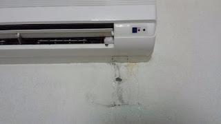 AC is having Water Leakage