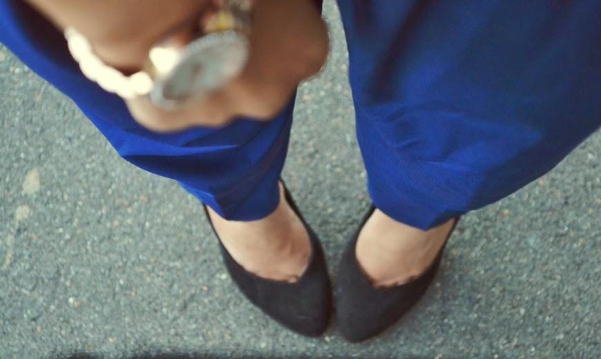 jumpsuit, blue, gold choker, michael Kors watch, rose gold watch, overalls