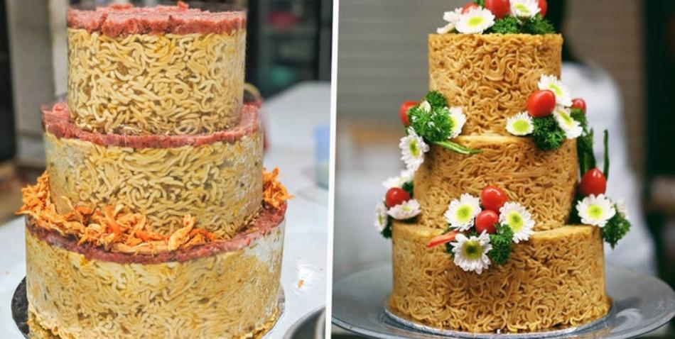 Instant Noodles cake