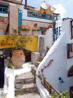 Stairs Oia Santorini Greece