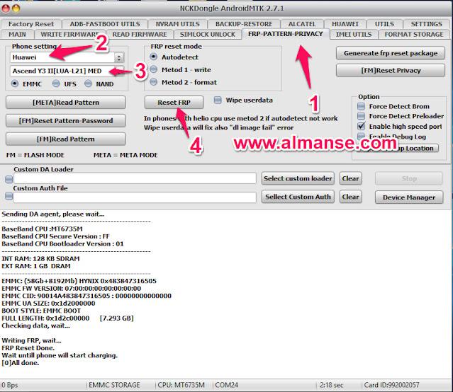 remove frp Huawei Y3 II  LUA-L21
