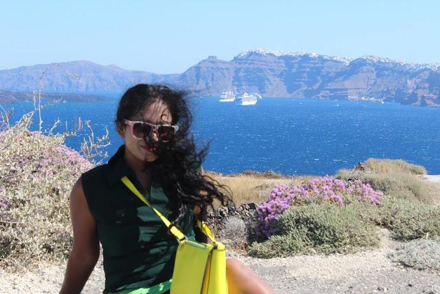 hurricane in Santorini, greece