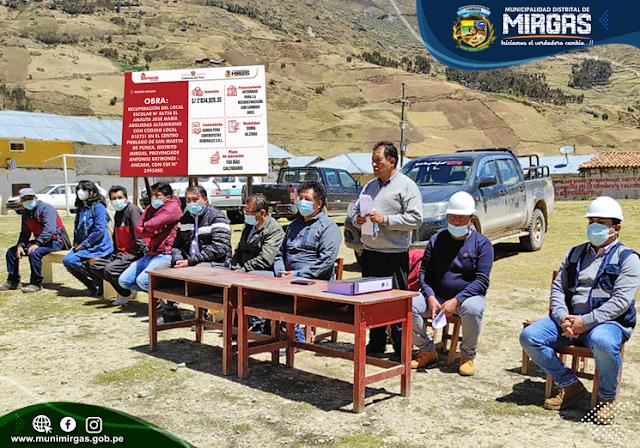 COLOCACIÓN DE PRIMERA PIEDRA: RECUPERACIÓN DEL LOCAL ESCOLAR N° 86738 EL AMAUTA JOSÉ MARÍA ARGUEDAS ALTAMIRANO