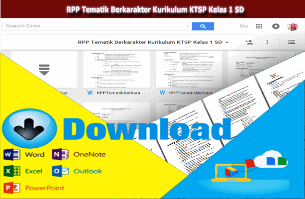RPP Tematik Berkarakter Kurikulum KTSP Kelas 1 SD