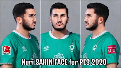 PES 2020 Faces Nuri Sahin by Bolulu