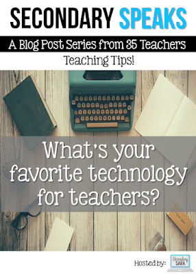 This next post in our Secondary Speaks series is all about favorite technology for teachers! We surveyed 35 secondary teachers, and they share their favorite websites, software, and devices for teachers. Click through to read all of their suggestions and tips!