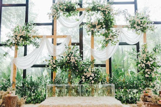 pelamin garden wedding 2021