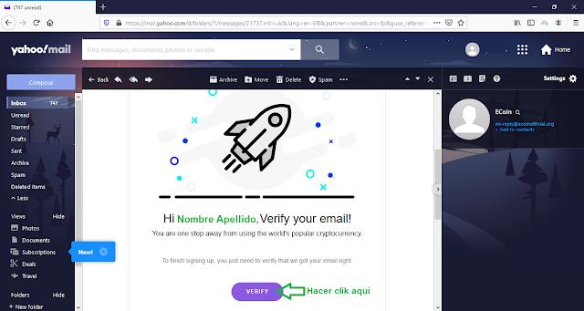 Nuevo AirDrop: Ecoin la criptomoneda para todos