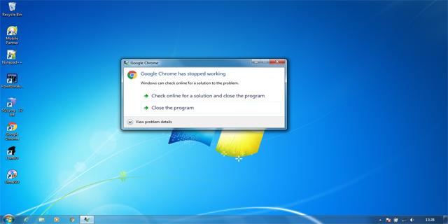 Cara Mengatasi Google Chrome Has Stopped Working