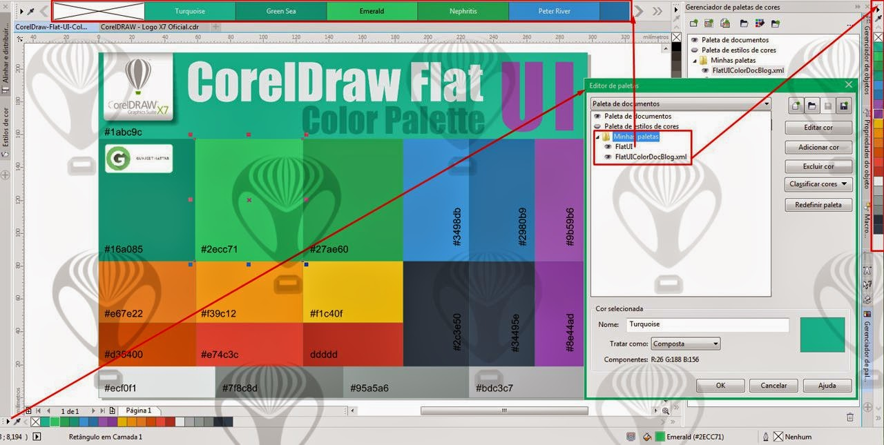 CorelDraw Flat UI-Color Palette | FREE DOWNLOAD