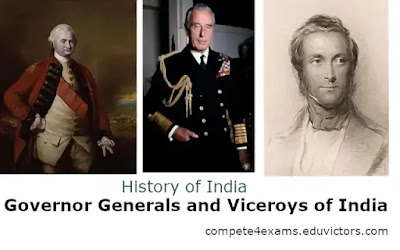 Governor Generals and Viceroys of India (#IndiaHistory)(GeneralStudies)(#compete4exams)(#eduvictors)