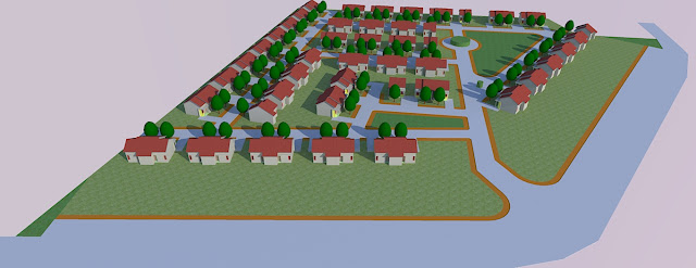 gambar rumah dengan lahan segitiga