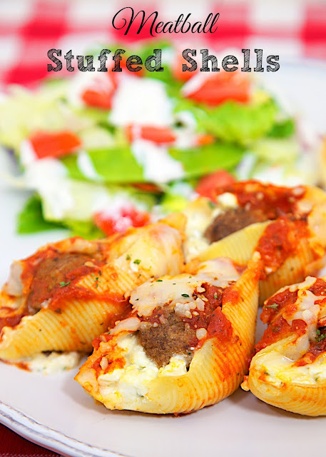 Meatball Stuffed Shells Plain Chicken