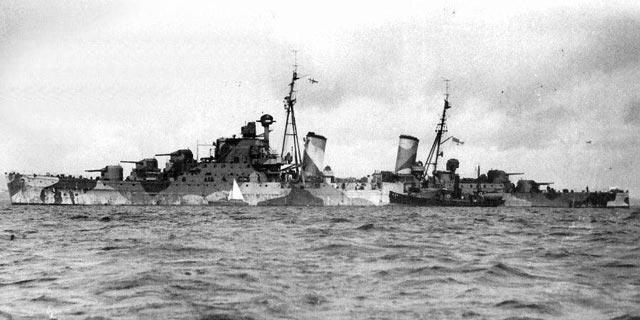 HMS Naiad, sunk on 11 March 1942 worldwartwo.filminspector.com