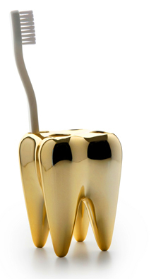 tooth-shaped toothbrush holder