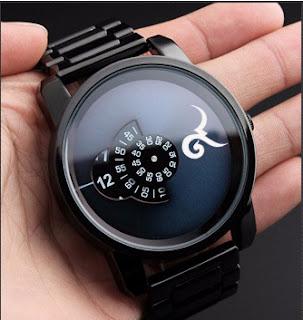 นาฬิกาข้อมือสีดำ