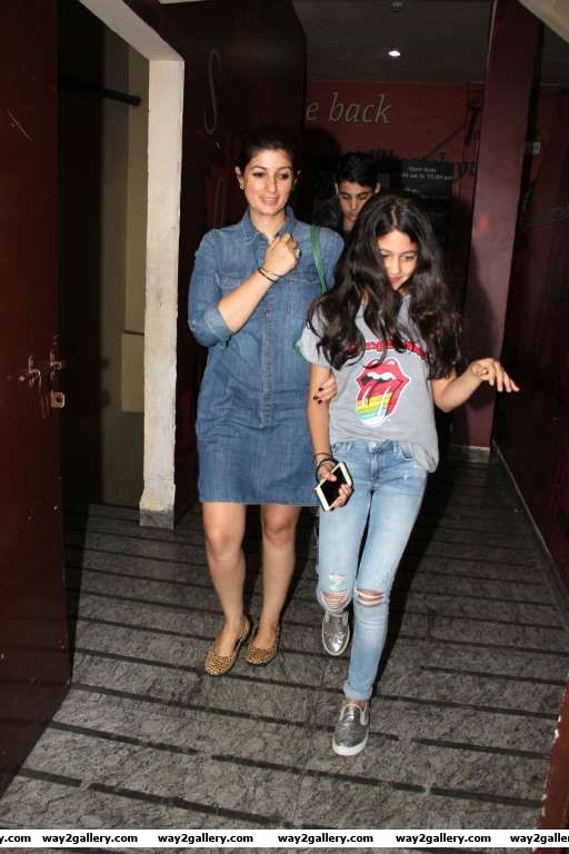 Our shutterbug caught Twinkle Khanna along with her kids at PVR cinemas in Juhu Mumbai