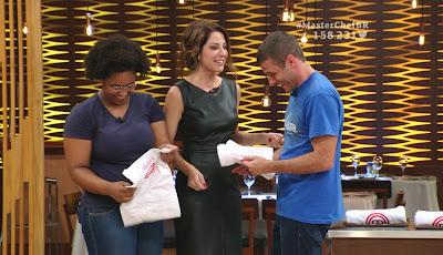Gleice e Fernando foram os vencedores da prova de repescagem - Divulgação/Band