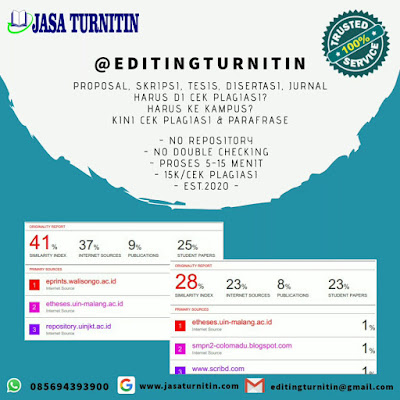 Jasa Cek Lolos Turnitin Online Free dan Mudah Seindonesia