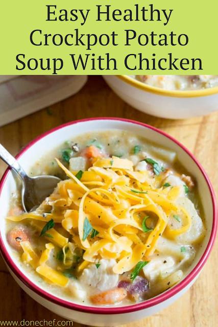 Healthy Crockpot Potato Soup Chicken