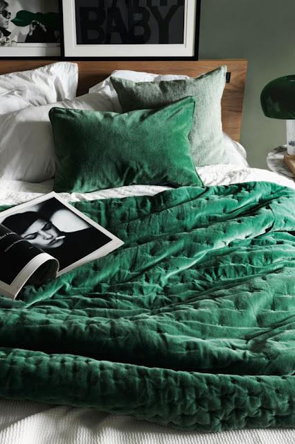 smaragd groen fluweel