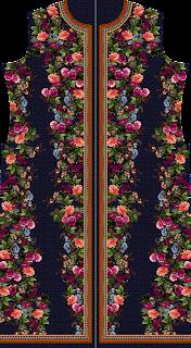 Flower print jacket Digital Textile