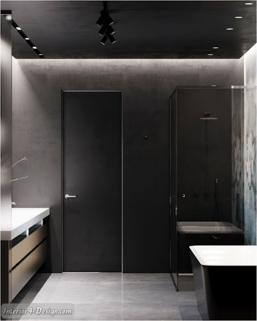 Bright Apartment With Black Walls
