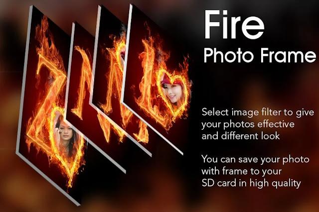 تنزيل تطبيق Fire Text Photo Frame للاندرويد اخر اصدار