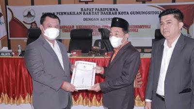 Wakil Walikota Gunungsitoli Terima Rekomendasi DPRD Terhadap LKPJ Walikota TA 2020