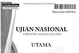 Download Soal UN 2016 SMP Matematika (Naskah Asli Soal UN 2016)