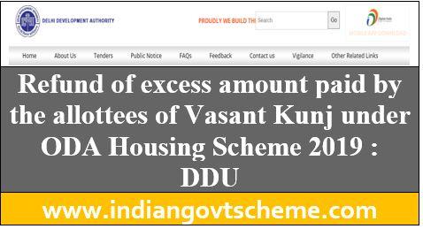 ODA Housing Scheme 2019