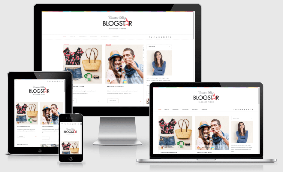 Blogstar - Responsive Clean and Minimal Blogger Template