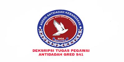 Deskripsi Tugas, Gaji dan Kelayakan Pegawai Antidadah Gred S41