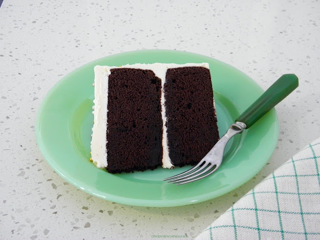 Chocolate Cake on Jadeite