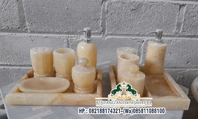 Model Bathroom Set Bahan Onix, Souvenir Perlengkapan Kamar Mandi