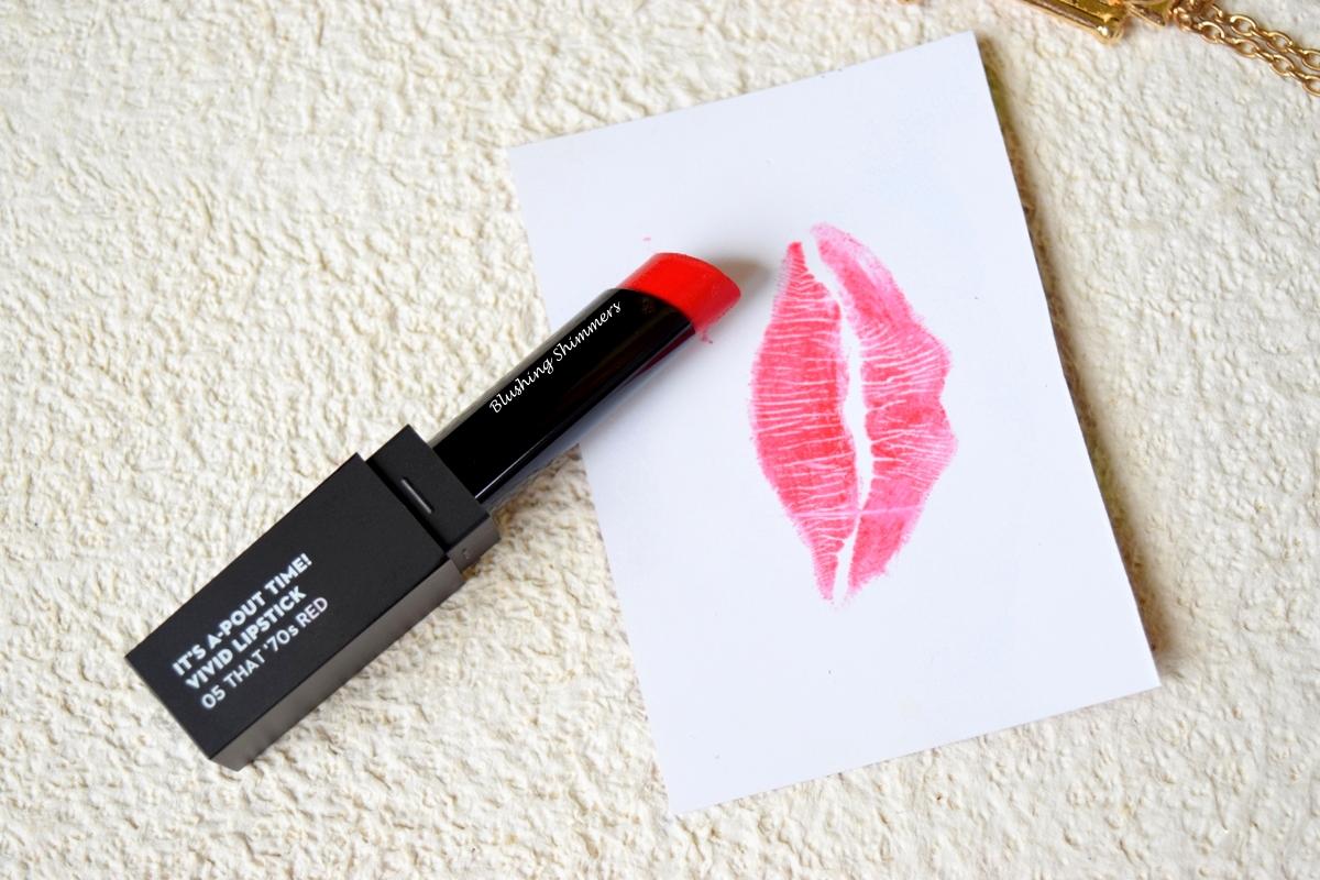Sugar It's a Pout Time ! Vivid Lipstick -That 70's Red