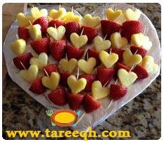 طريقة تزيين الفواكه بالاعواد